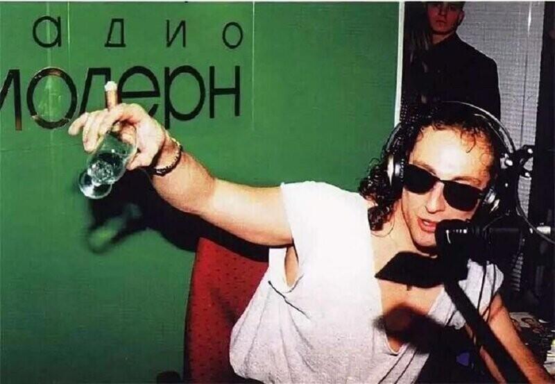 "Дмитрий Нагиев на ""Радио Модерн"", 1994 год"