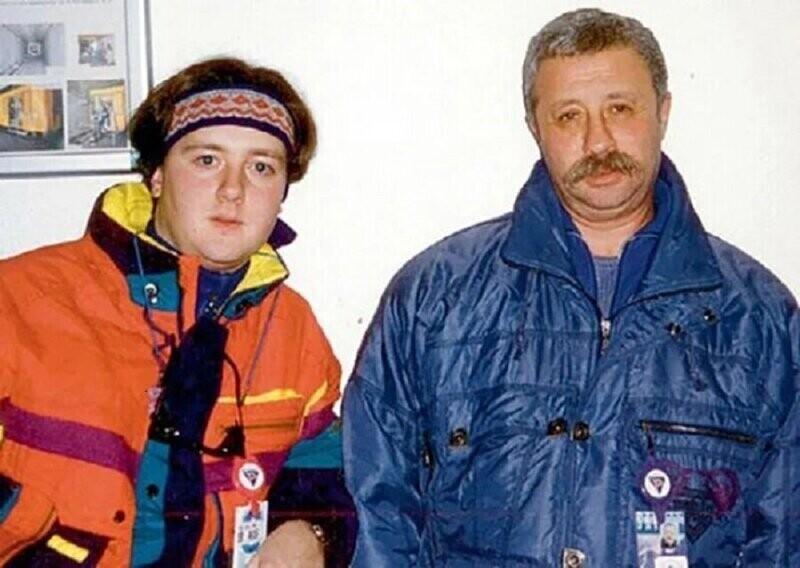 Леонид Якубович со своим сыном Артёмом, конец 90-х