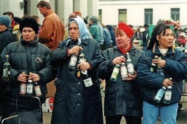 Стихийная и повсеместная: торговля 90-х