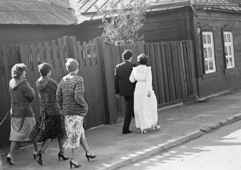 Свадьба, Коломна, Московская область, 1981. Автор фото: Игорь Пальмин