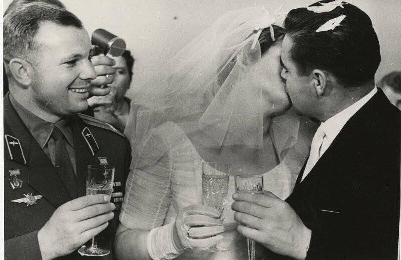 Свадьба Валентины Терешковой и Андрияна Николаева. Москва, 3 ноября 1963 года. Автор неизвестен