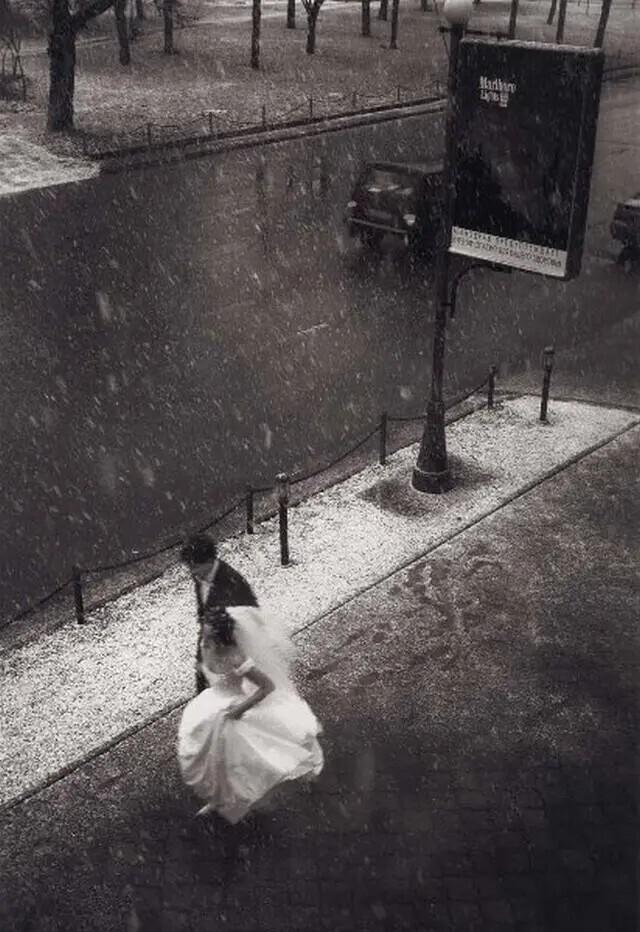 Первый снег, 1990 год. Автор фото: Розов Георгий Дмитриевич