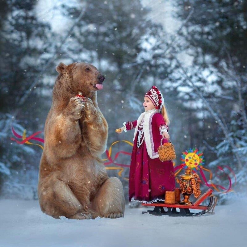 Медведь по имени Степан делает успешную карьеру модели