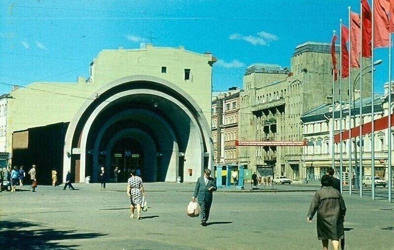 """Метро """"Лермонтовская"""", 1970-е"""