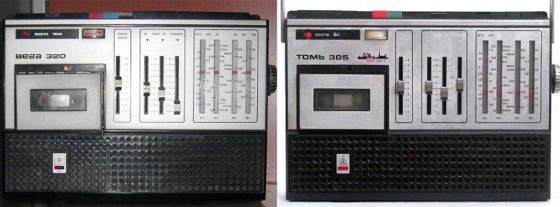 Какие были кассетные магнитолы в СССР