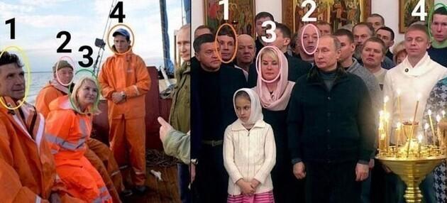 11. Одни и те же люди окружают Путина