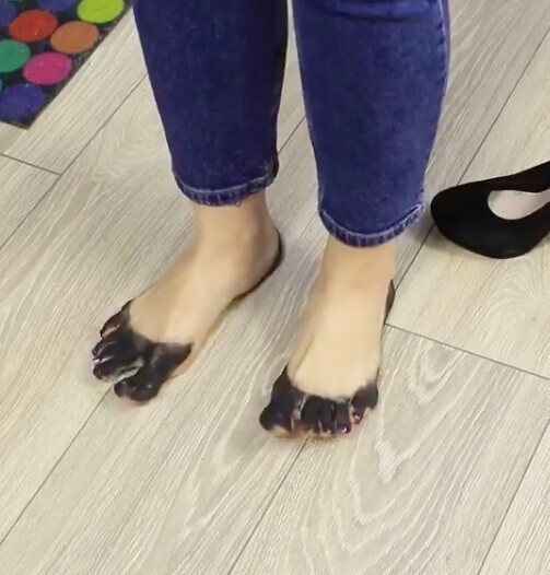 Туфли полиняли