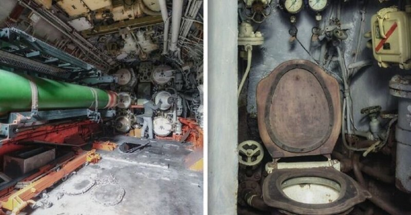 Советская заброшенная подводная лодка