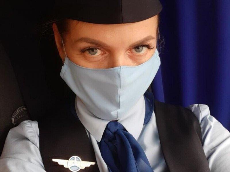 Прекрасная Наталья всегда мечтала быть стюардессой!