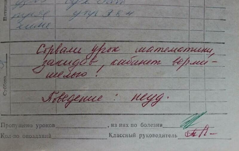 Убойные замечания из школьных дневников