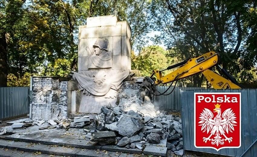 Вот что осталось от памятника советским воинам в Польше