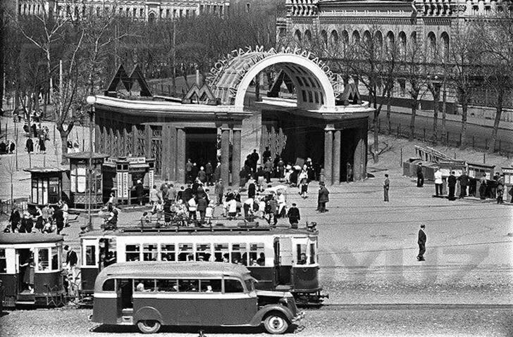 Станция метро «Дворец Советов» («Кропоткинская»). 1930 год