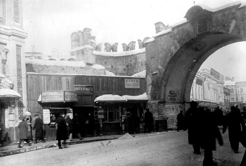 Базар у Китайгородской стены, 20-е годы 20 века