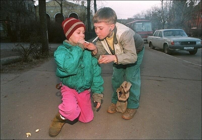 Беспризорные дети в Санкт-Петербурге, 13 апреля 1995 год