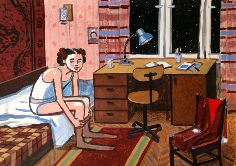 «Советское детство»: наивно честные рисунки Зои Черкасской