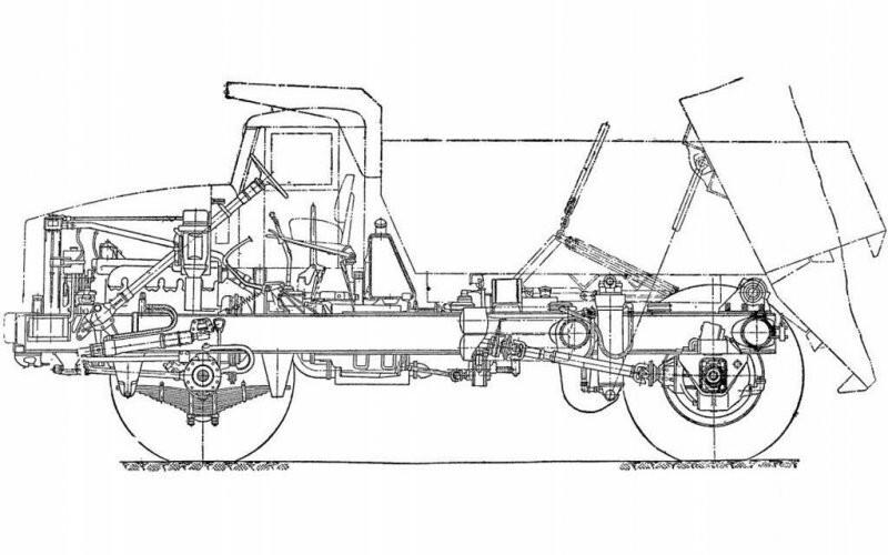 Шасси самосвала МАЗ-525