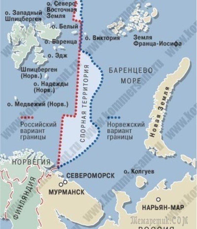 175 тыс. кв. км шельфа в Баренцевом море