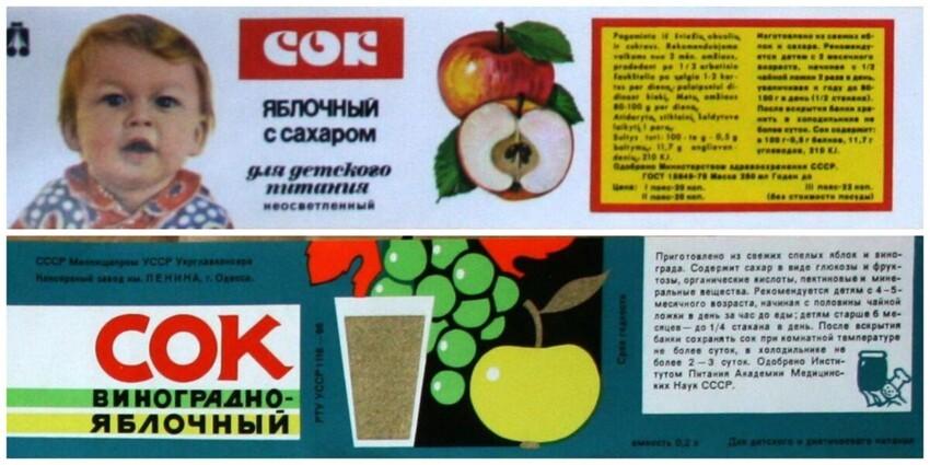 Насколько натуральными были соки в СССР