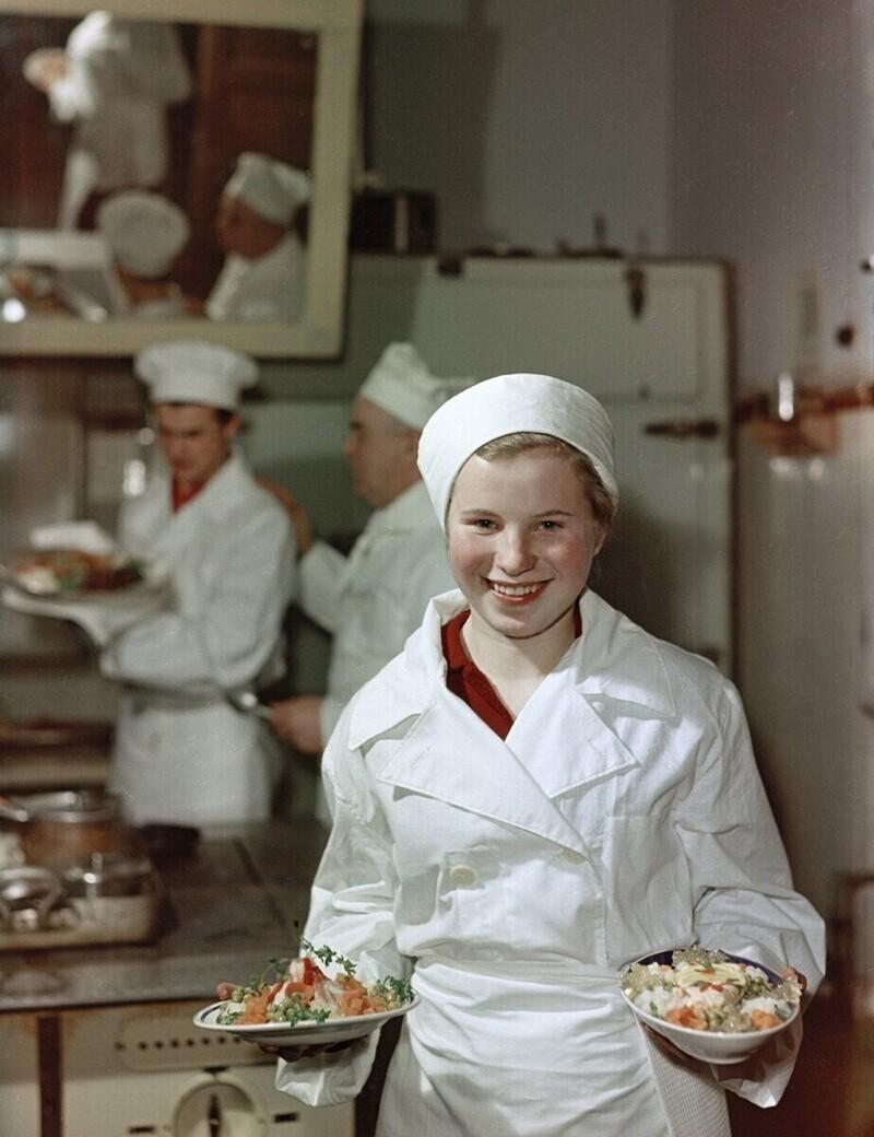 Москва, школа кулинарного ученичества, Лида Пескова, 1958 год