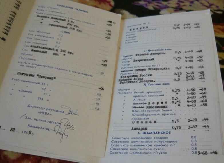 Ресторанные цены, которые были доступны всем