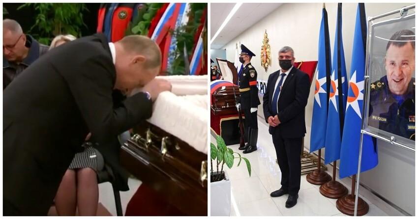 Владимир Путин простился с главой МЧС Евгением Зиничевым