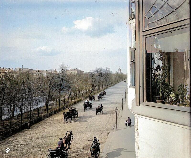 Тверской бульвар из окна.