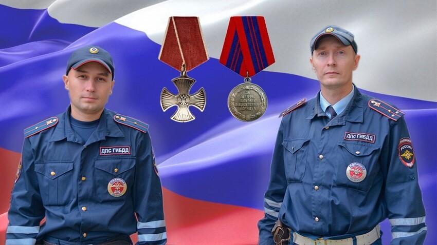 Автоинспекторов повысили в званиях. Калинин теперь лейтенант полиции, Макаров - капитан