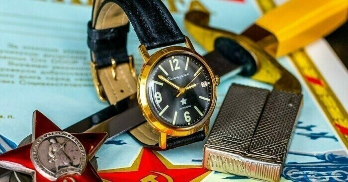 Популярные наручные часы в СССР