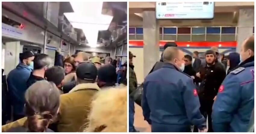 Пассажиры метро выгнали из вагона пристававших к девушке кавказцев
